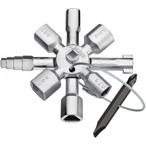 Knipex 00 11 01 TwinKey® voor alle standaard schakelkasten en afsluitsystemen