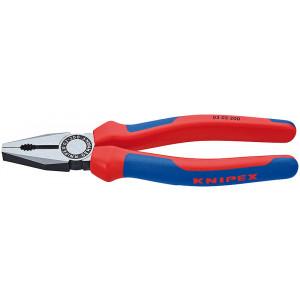 Knipex 03 02 200 kombi-tang gepolijst/comfort 200 mm