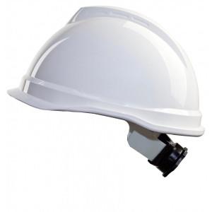 MSA V-Gard Veiligheidshelm 4 punts textiel, draaiknop, HDPE