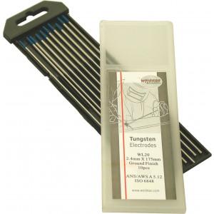 Wolfraam elektroden Blauw WL-20, Ø 1.6 mm, per 10 st.