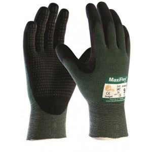 Maxiflex cut 34-8743 groen/zwart, mt 08, nylon/nitrile