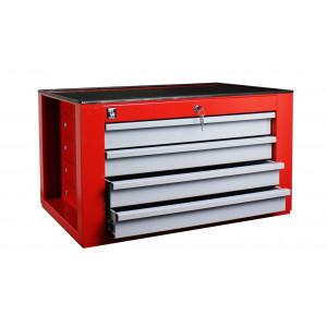 GT104G Gereedschapskoffer GT1 4 laden rood/lichtgrijs