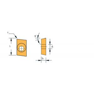Korloy APKT1135PDFR H01 Freesplaat voor ALU