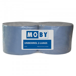 Moby Blauw papier 2 laags 1000 vel