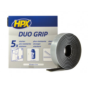 HPX Duo Grip Klikband Zw 25mmx2M