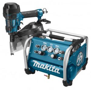 Makita DK1147 Startset 22 bar met constructie tacker AN911H en compressor AC310H