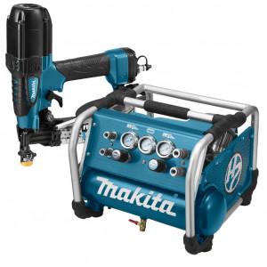 Makita DK1156 Startset 22 bar met schroefautomaat AR410HR en compressor AC310H