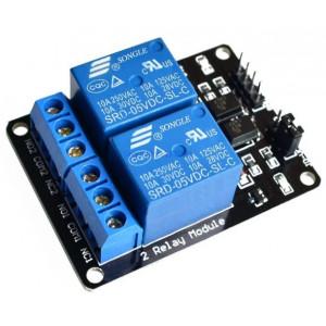 HSCNC 2x Relais 5v 230v10A active low module