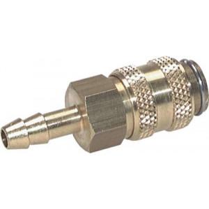 Koppeling Rectus Messing voor slang 8mm