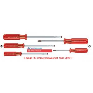PB 100-5 delige schroevendraaierset, Classic heft