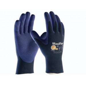 MaxiFlex Elite 34-244 blauw, maat 10, Nylon/PU/nitril, Palmgecoat met nopjes