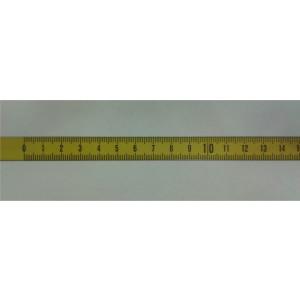 zelfklevende metalen meetband 13mmx3000mm van links naar rechts
